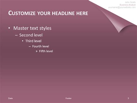 turn  page template  powerpoint purple