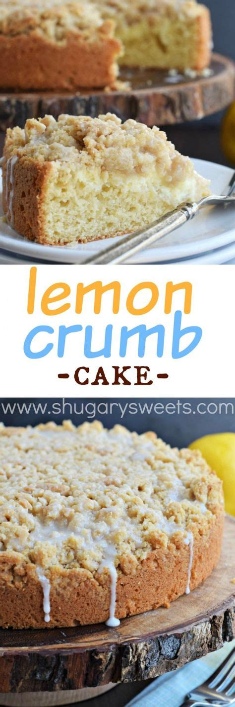 Drizzle about 1 cup of the lemon curd on top, making sure to leave a 1 inch border from the inner and outer perimeter (any curd that. Lemon Crumb Cake with a creamy lemon cheesecake filling ...