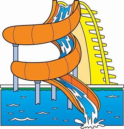 Water Clip Park Slide Clipart Waterslide Pool