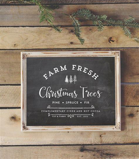 farm fresh christmas trees christmas signs wood
