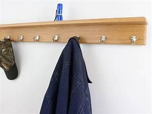 Solid, Oak, Shelf, Coat, Racks, 3, To, 10, Single, Style, Hook, Choices