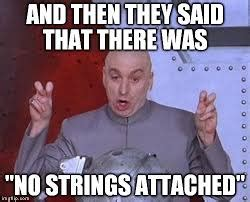 No Strings Attached Memes - seo reno experts