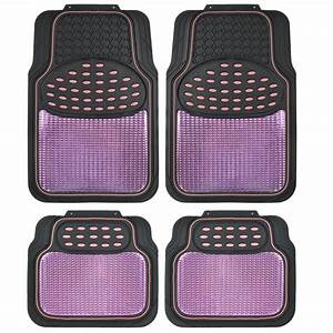 pink and black metallic design rubber floor mats car suv With pink floor mats for cars