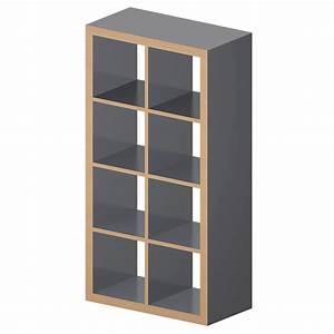 Ikea Kallax Zubehör : cad and bim object kallax etagere gray wood effect ikea ~ Frokenaadalensverden.com Haus und Dekorationen