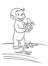 Curious George Coloring Pages Banana Peel Littering Way Drawing Stimulate Skills Motor Fine Printable Affe Getdrawings Halloween Netart Books Popular sketch template