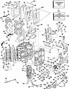 Johnson Cylinder  U0026 Crankcase Parts For 1985 90hp J90tlcos Outboard Motor