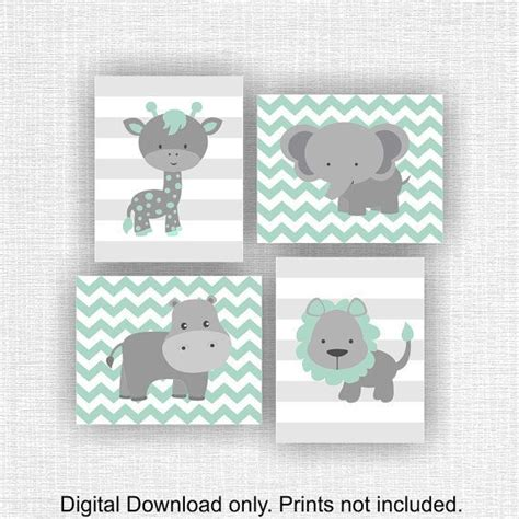 Kinderzimmer Deko Lions by Instant Mint And Gray Jungle Animals Nursery
