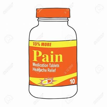 Pain Clipart Killer Bottle Medication Pills Pill