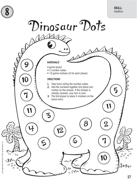 dinosaur math worksheets 1st grade 2 digit subtraction