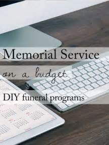 funeral program paper 15 ideas for a beautiful memorial service on a budget