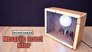 How To Make A Mosquito  Insect Trap Lamp From Scrap