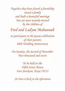 print your own 60th wedding anniversary invitation wording With print your own 50th wedding anniversary invitations