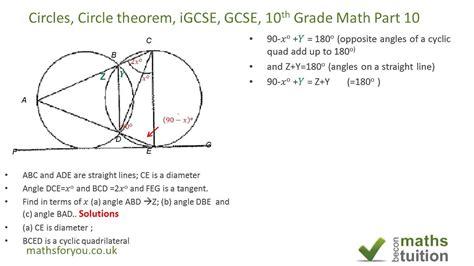 circles circle theorem igcse gcse 10th grade math part