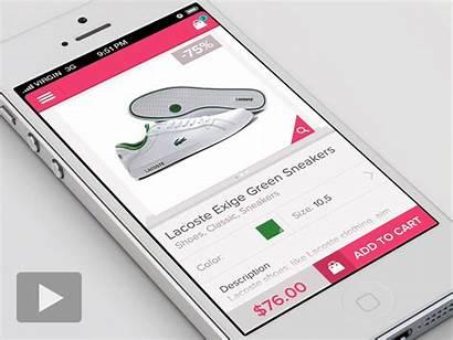 Mobile Shopping App Cart Ui Ecommerce Animation