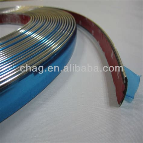 self adhesive cabinet edging tape silvery self adhesive car chrome cover edge banding view