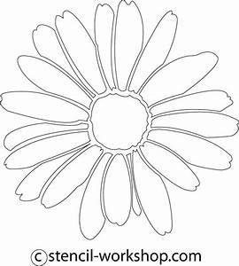 Daisy Stencil - 5 | stencils | Pinterest | Stencils and ...