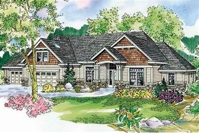 Plans Plan Ranch Cottage Garage Elevation Main