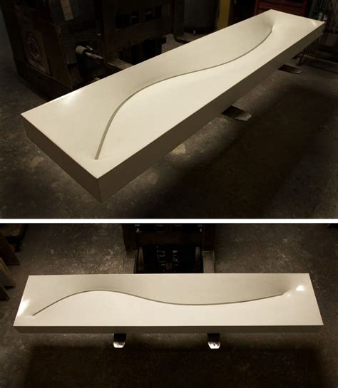creative concrete countertop designs  inspire