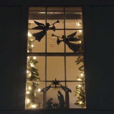 nativity scene window wall decoration