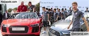 Bayern Automobiles : bayern munich players coach carlo ancelotti all smiles as they get new audi sports cars ~ Gottalentnigeria.com Avis de Voitures