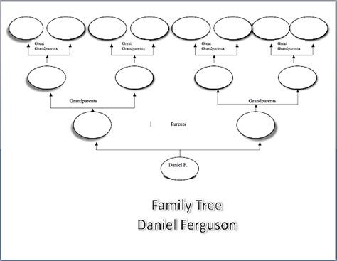 Family Tree Diagram Template Microsoft Word by Family Tree Sjl Professional Development