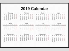 Editable Public Holidays 2019 Calender with USA, UK, UAE