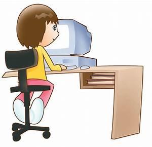 Woman Using Computer Clip Art (17+)