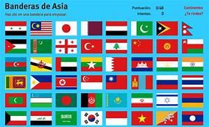 Mapa interactivo de Asia Banderas de Asia Juegos de Geografía Mapas Interactivos de Didactalia