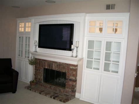 Built In Tv Cabinet Over Fireplace Cabinets Matttroy