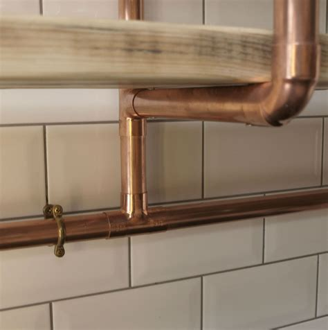 Large 3 Shelf 28mm Copper Pipe Unit Wall Mounted