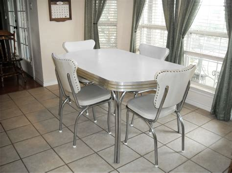old fashioned kitchen table and chairs vintage retro 1950 39 s white kitchen or dining room table