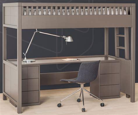 lit mezzanine avec bureau pour ado lit mezzanine quarré avec bureau rabattable bureau