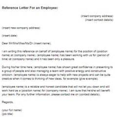 reference letter for an employee sample
