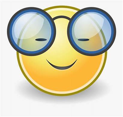 Clipart Smiley Intelligent Face Transparent Glasses Clipartkey