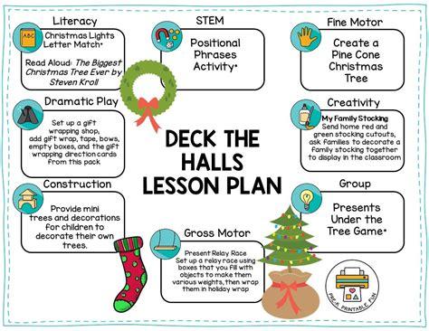 deck the halls pre k printable 344 | deck the halls preschool christmas lesson plan orig