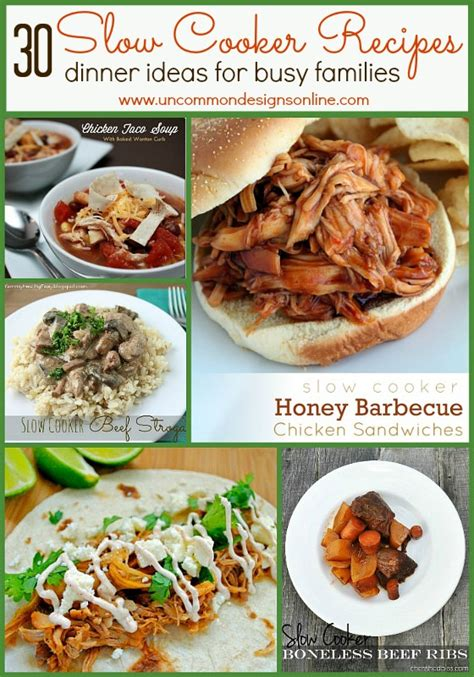 dinner ideas for families 30 slow cooker recipes dinner ideas for busy families