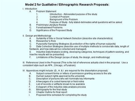 model   qualitative ethnographic research proposals
