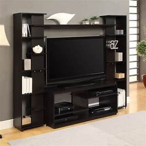 Altra furniture entertainment center in black and white for Furniture home center buy online