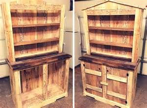 shabby chic kitchen island diy pallet sideboard or kitchen cabinet