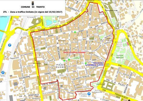 Ufficio Ztl Torino by Ztl Trento Mappa Orari Telecamere Parcheggi