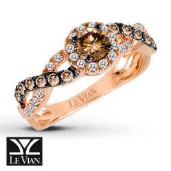 le vian chocolate engagement rings jared levian chocolate diamonds 7 8 ct tw ring 14k strawberry gold