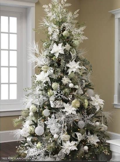 exciting silver  white christmas tree decorations digsdigs