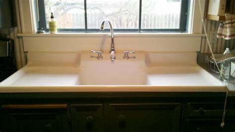 kitchen sink with drainboard and backsplash farmhouse drainboard sink 1910 farm sink with built in 9585