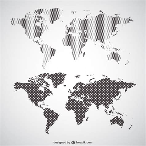 baixar de mapa do mundo de vetor gratis