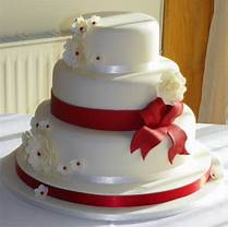 Wedding Cake S Gallery Great Red Ribbon