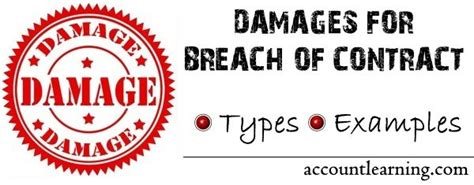Types Of Damages For Breach Of Contract With Examples