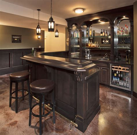 Black Home Bar by 15 Astonishing Traditional Home Bars For Your Daily
