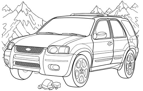 Ford Kleurplaat by Ford Coloring Pages