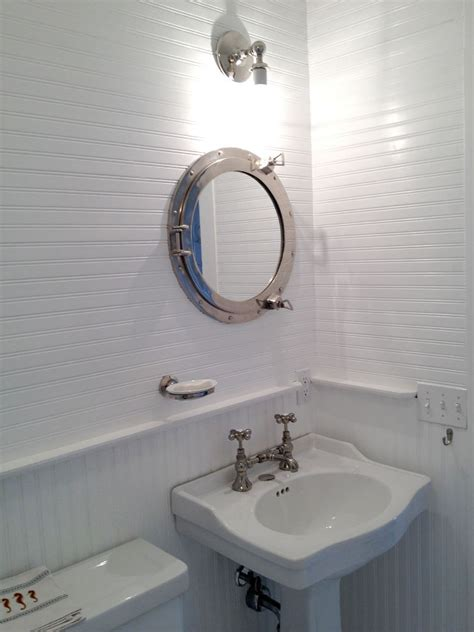 Large Porthole Medicine Cabinet by Renovated House With Rustic Coastal Interiors Home