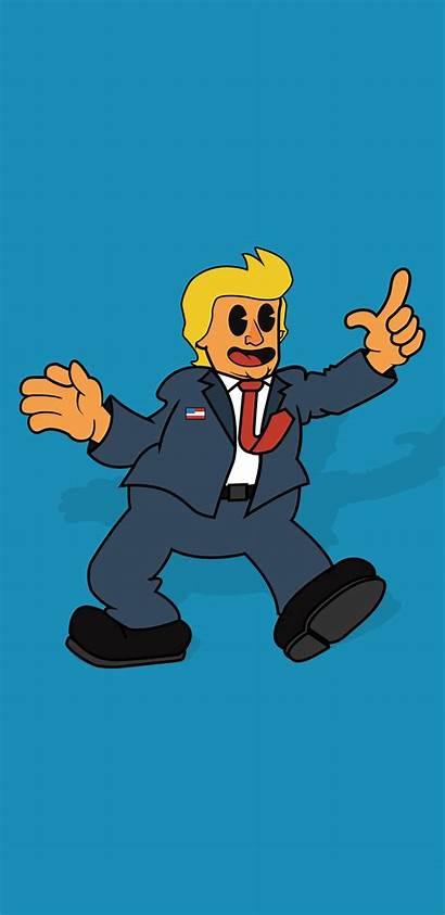 Cartoon Phone Wallpapers Trump Backgrounds Donald Multimedia